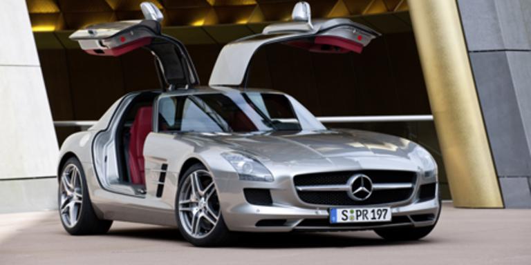 Mercedes SLS - der Star der IAA