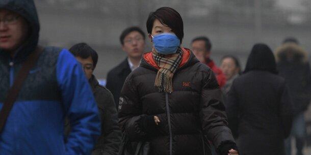 """Peking: Smog nun als """"ungesund"""" eingestuft"""