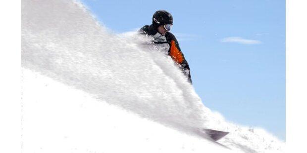 Flug zum Schnee