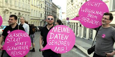Wien: Proteste gegen Internet-Überwachung