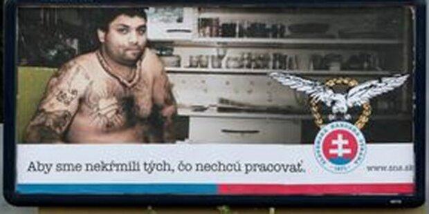 Rechte werben mit halbnackten Roma