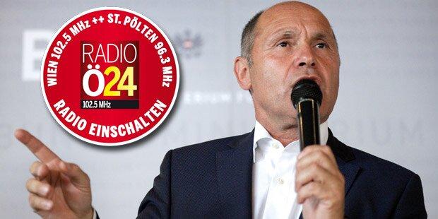 Innenminister Sobotka zu Gast bei Radio Ö24