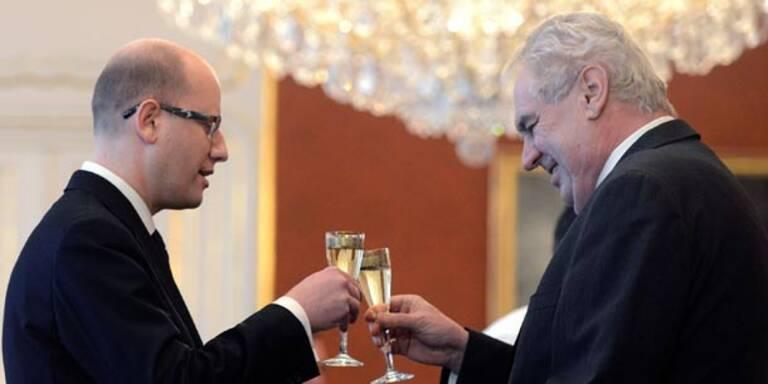 Eklat bei Tschechiens Regierungsangelobung