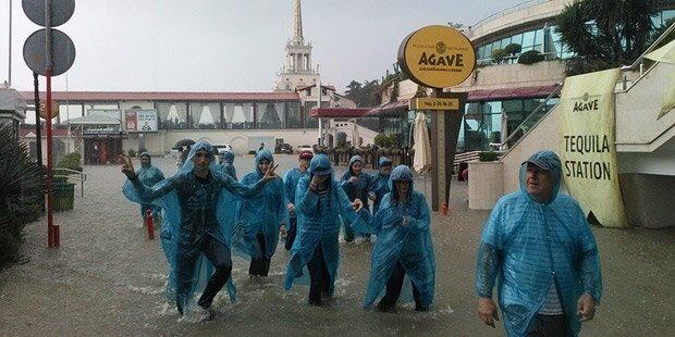 Sotschi: Schwere Schäden durch Hochwasser