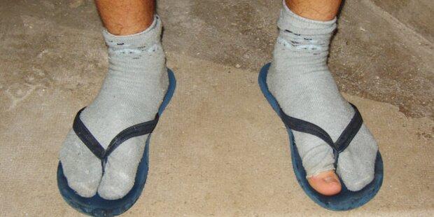 Jeder 5. wechselt Socken nicht täglich
