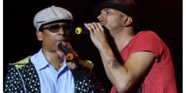 Xavier Naidoo rockt mit Thomas Muster