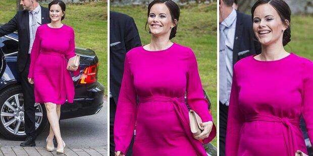 Sophia von Schweden strahlt mit Babybauch