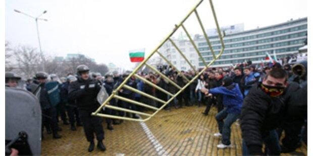 Ausschreitungen bei Anti-Regierungs-Demo in Sofia
