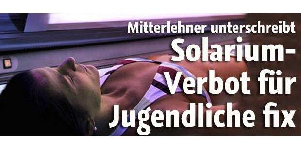 Mitterlehner verordnet Solarien-Aus