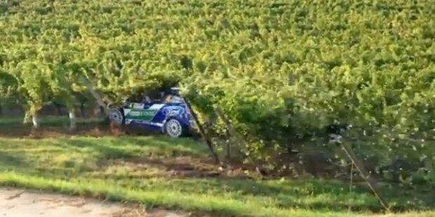 Rallye-Crash: Petter Solberg fällt Strommast