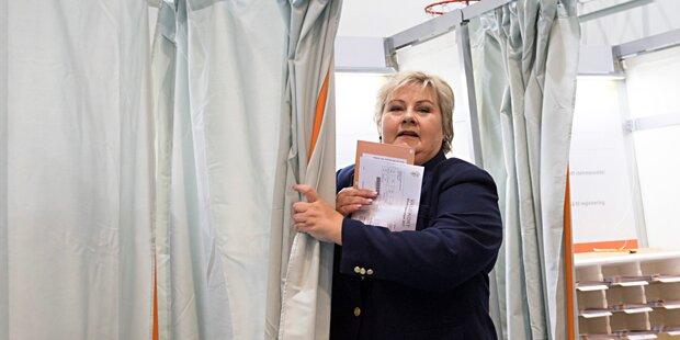 Kopf-an-Kopf-Rennen bei Wahl in Norwegen