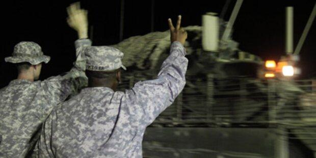 Letzte US-Truppen verlassen Irak