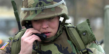 soldier on phone