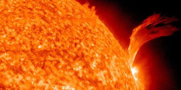 Sonneneruption bedroht die Erde