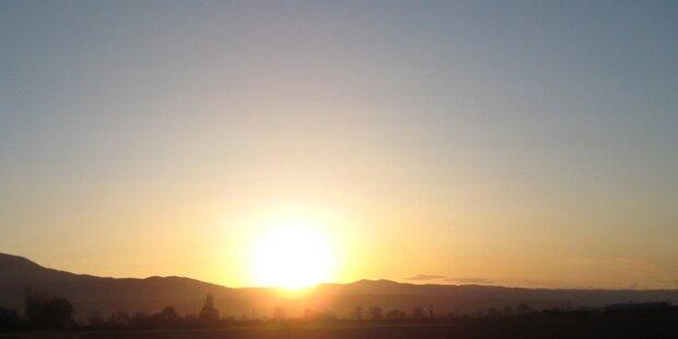 Bis Mittwoch noch die Sonne genießen!
