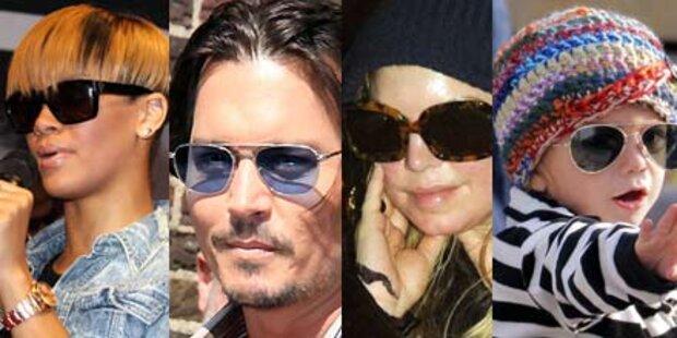 Durchblick: Promis kess mit Sonnenbrille