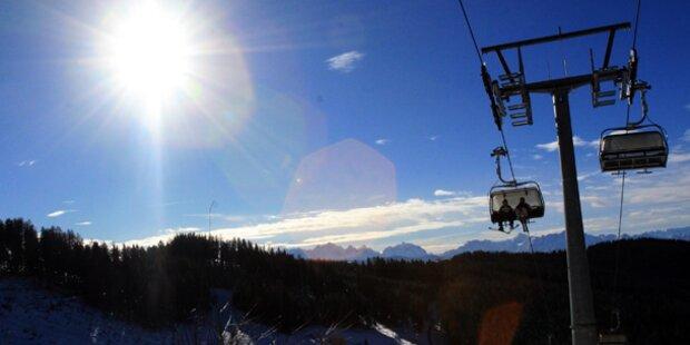 Das Wetter in den Skigebieten