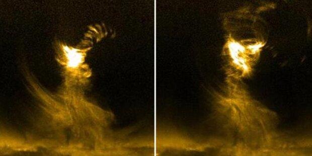 Sonnentornado mit 300.000 km/h gefilmt