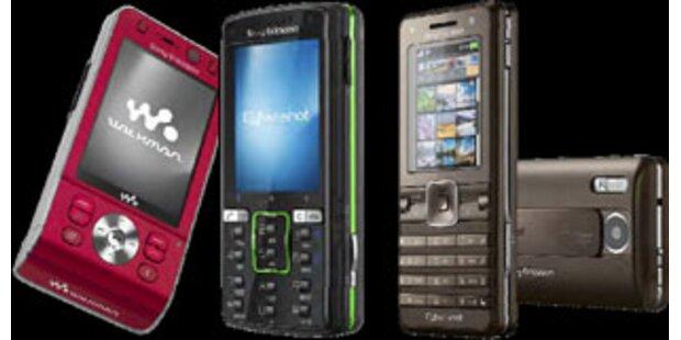 Sony Ericsson bringt drei neue Flaggschiff-Modelle