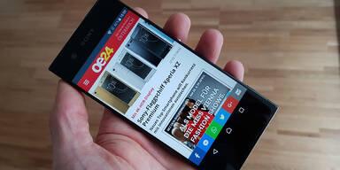 Das Sony Xperia XA1 im oe24.at-Test