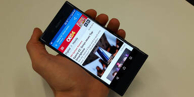 Sony Xperia XZ im oe24.at-Test
