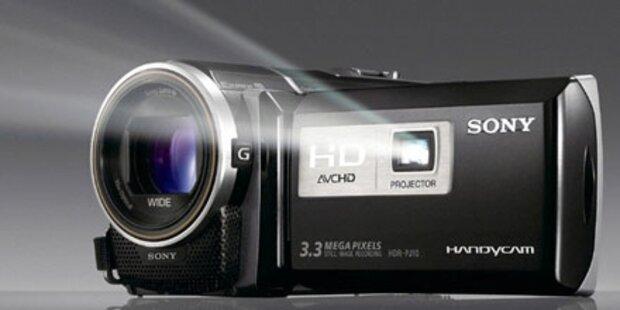 Sony Camcorder mit integriertem Beamer