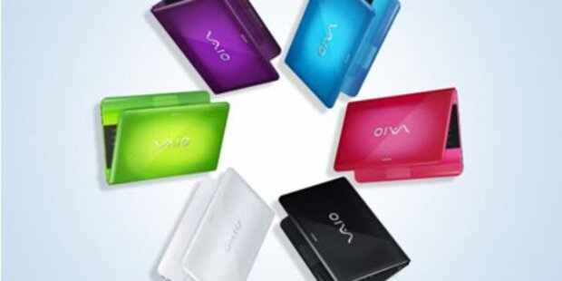 Farbenfrohe Einstiegs-Notebooks von Sony