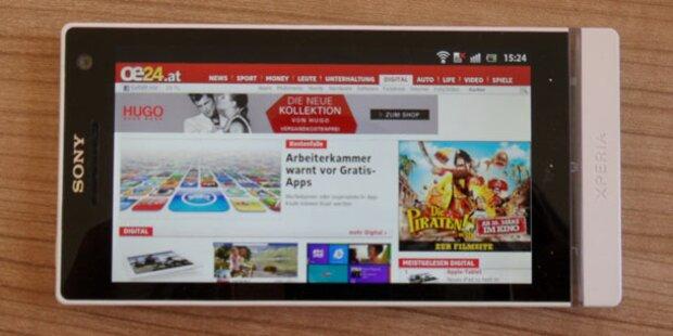 Sony Xperia S im großen oe24.at-Test