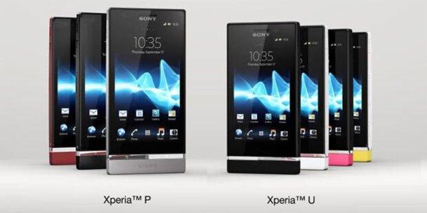 Sony stellt Xperia P und U vor