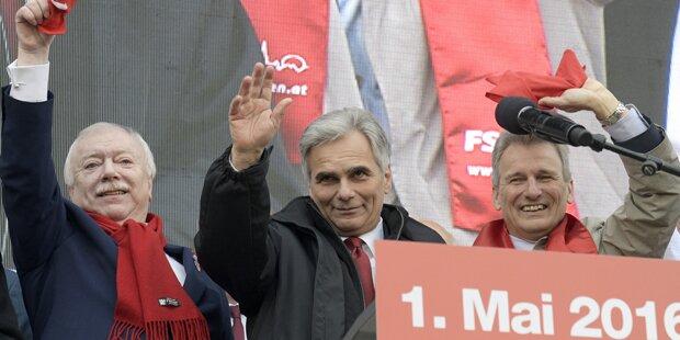 1. Mai: Kanzler verteidigt härtere Flüchtlings-Linie