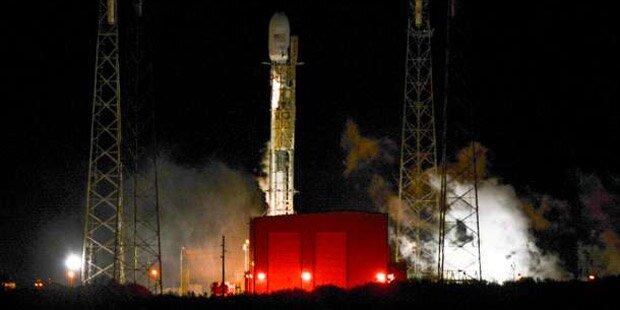 SpaceX bricht Raketen-Start in letzter Sekunde ab