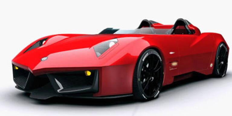 Schneller Roadster im Tiefflieger-Design