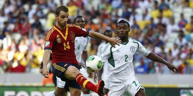 3:0 - Spanien lässt Nigeria keine Chance