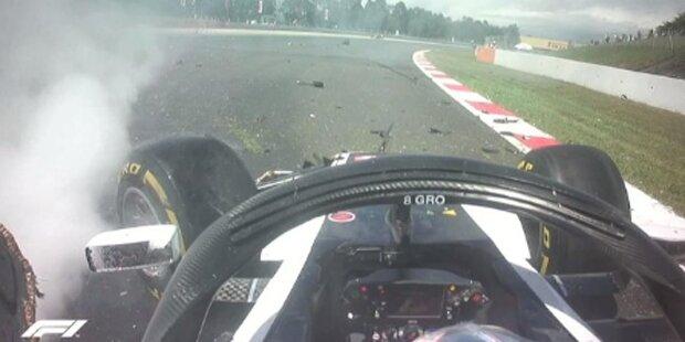 Wilder Start-Crash bei Spanien-GP