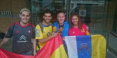 Spanische Nationalmannschaft in Salzburg