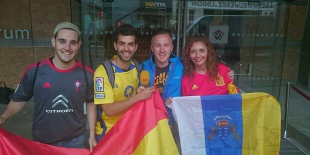 Die Spanier sind da