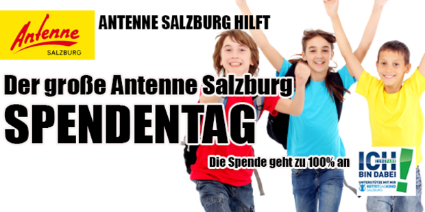 Der große Antenne Salzburg Spendentag
