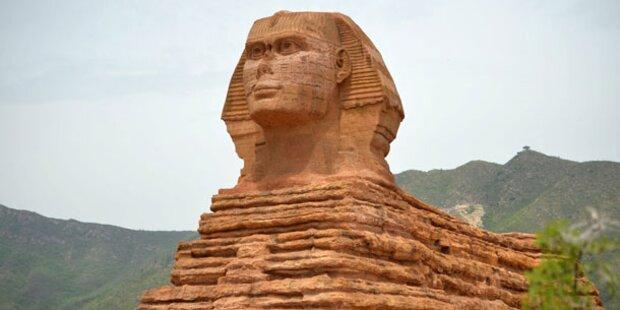Chinesen bauen Sphinx von Gizeh nach