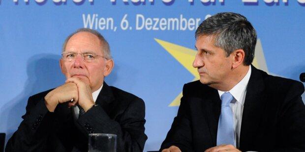 Schäuble spottet über Spindelegger