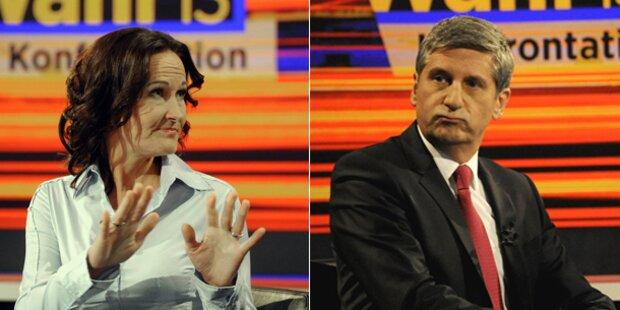 TV-Duell: Glawischnig vs. Spindelegger