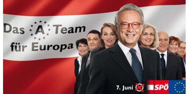 Der erste Blick auf die SPÖ-Wahlplakate