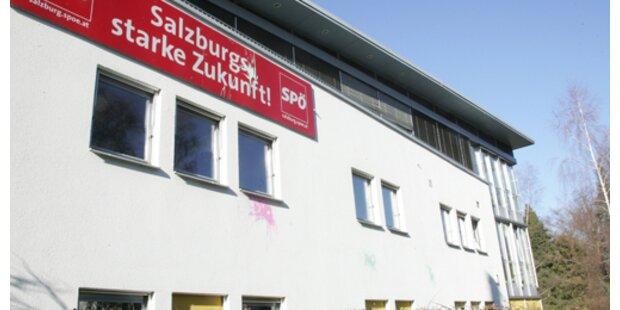 Farbanschlag auf SPÖ-Zentrale