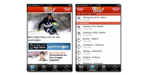 Die neue oe24.at - Sport App
