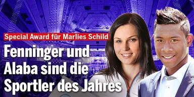 Anna Fenninger und David Alaba sind Österreichs Sportler des Jahres