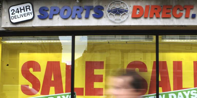 Sports Direct rutschte tiefer ins Minus