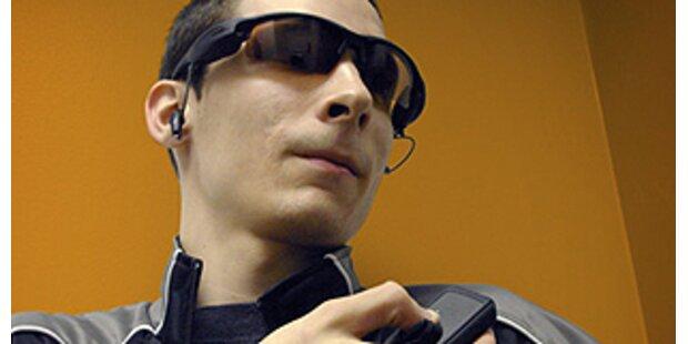 Sonnenbrille hat Digitalkamera integriert