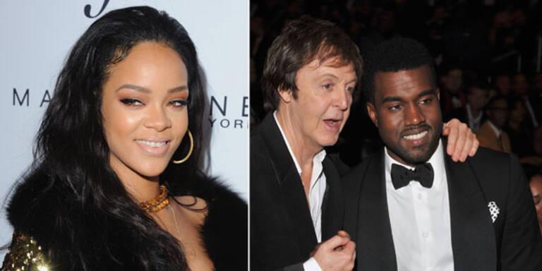 Rihanna singt mit Kanye & McCartney