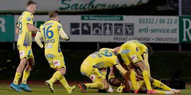 3:3 - St. Pöltens Last-Minute-Tor raubt Hartberg Top-6-Platz