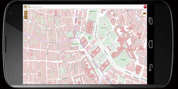 Online-Stadtplan von Wien wird jetzt mobil