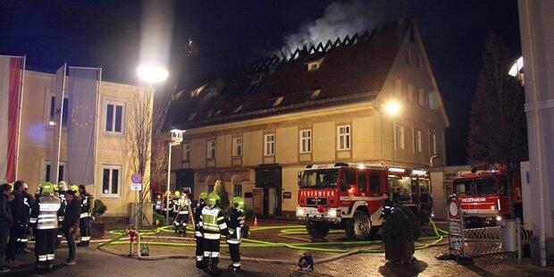 Brand in Stainz: Feuerwehr-Großeinsatz